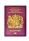 Förenade kungariket/brittiskt pass Arkivfoto