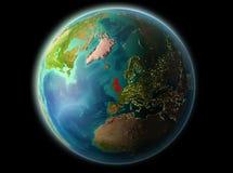 Förenade kungariket i aftonen Royaltyfri Bild