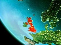 Förenade kungariket i rött i aftonen Royaltyfria Bilder