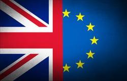 Förenade kungariket mörk flagga Arkivbild