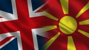 Förenade kungariket och Makedonien vektor illustrationer