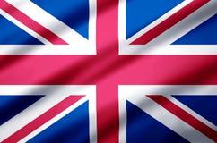 Förenade kungariket realistisk flaggaillustration royaltyfri illustrationer