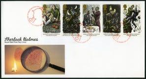 FÖRENADE KUNGARIKET - 1993: serie Sherlock Holmes Arkivbilder