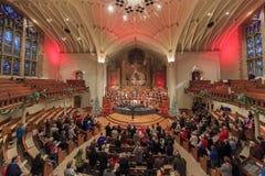 Förenade metodistkyrkan för jul först av Pasadena Arkivfoton