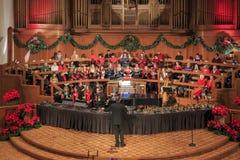 Förenade metodistkyrkan för jul först av Pasadena Arkivbild