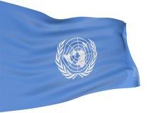 förenade nationer för flagga 3d royaltyfri illustrationer