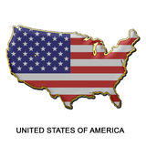 förenade tillstånd för stift för Amerika emblemmetall Royaltyfri Foto