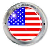 Förenar tillstånd av den Amerika knappen Royaltyfria Foton