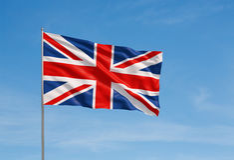 förenat flaggakungarike Royaltyfria Foton