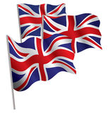 förenat kungarike för flagga 3d Royaltyfri Bild