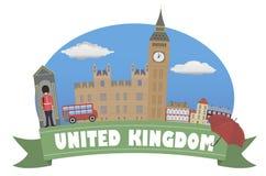 förenat kungarike Turism och lopp vektor illustrationer