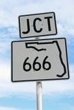 föreningspunkt för 666 florida Royaltyfria Bilder