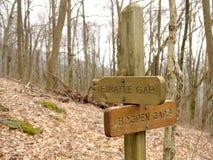 Föreningspunkt var Tesnatee Gap och Hogpen Gap möter Royaltyfri Bild