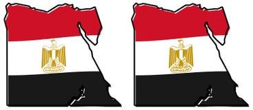 Förenklad översikt av den Egypten översikten, med den litet vridna flaggan under I vektor illustrationer