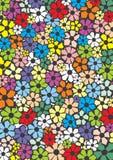 förenklad blom- prydnad för färg Royaltyfri Foto
