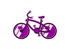 Förenklad cykel royaltyfri illustrationer