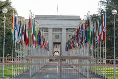 Förenta Nationerna i Genève Royaltyfri Foto