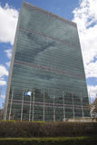 Förenta Nationerna som bygger i Manhattan Arkivbild
