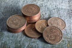 Förenta staterna en dollar mynt Arkivfoton