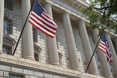 Förenta staternaavdelning av finansfasaden Royaltyfri Foto