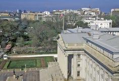 Förenta staternaavdelning av kassan och Vita Huset, Washington, DC Royaltyfri Fotografi