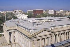 Förenta staternaavdelning av kassan och Vita Huset, Washington, DC Royaltyfria Bilder