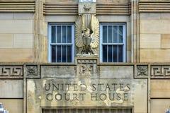 Förenta staternadomstolsbyggnad - buffel, New York Arkivfoton