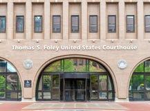 Förenta staternadomstolsbyggnad i Spokane, Washington Fotografering för Bildbyråer