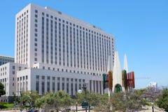 Förenta staternadomstolsbyggnaden som bygger Los Angeles arkivfoto