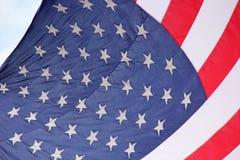 Förenta staternaflagga med stjärnafokusen Arkivfoton