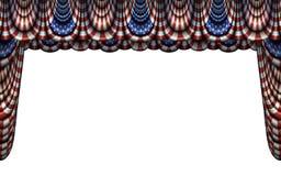 Förenta staternaflaggaBunting och etappgardin Fotografering för Bildbyråer