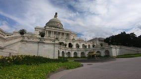 Förenta staternahuvudbyggnad, kongress metad bred vinkel för skottWashington DC arkivfilmer