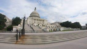 Förenta staternahuvudbyggnad, kongress skjuten metad sned boll - bred vinkel för Washington DC arkivfoton