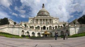 Förenta staternahuvudbyggnad, kongress Timelapse - bred vinkel för Washington DC stock video
