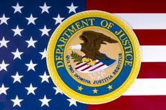 Förenta staternajustitiedepartementet royaltyfri foto