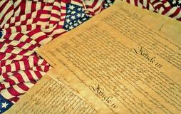 Förenta staternakonstitution royaltyfria foton