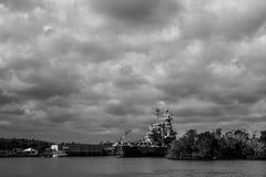 Förenta staternaslagskeppet North Carolina Arkivbild