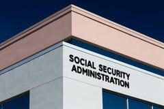 Förenta staternasocialförsäkringkontor Arkivbild