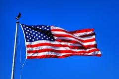 Förenta staternastjärna- och bandnationsflagga arkivfoto