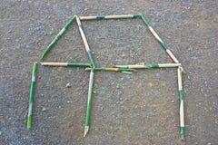 Föreställ ett bambuhus. Arkivbilder