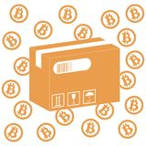 Föreställa att beskriva möjligheterna av att använda bitcoin som hjälpmedel vektor illustrationer
