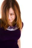 Föreställa av härlig kvinna Arkivfoto