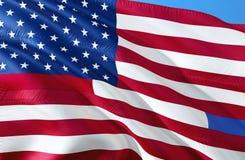 Föreställa kombinerad service för polisen, brandmän, 911, korrigeringar eller federal agentFörenta staterna Flagga för USA amerik vektor illustrationer