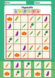 föreställa sudokuen för ungar, klipp och klistra Arkivfoto