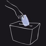 företa en sluten omröstning den svarta asken Royaltyfria Foton