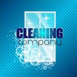 Företag för lokalvård för företags identitet för malldesign Realistiska bubblor knackade in i skumet också vektor för coreldrawil Royaltyfri Fotografi