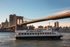 Företag för NY-vattenvägtrans. Royaltyfria Foton