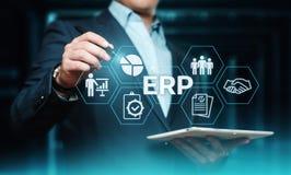 Företagresurs som planerar för företagsdirektionaffär för ERP företags begrepp för teknologi för internet arkivfoto