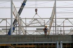 företags arbetare för byggnadskonstruktion Arkivbild