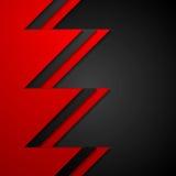 Företags bakgrund för röd och svart kontrasttech Royaltyfri Foto